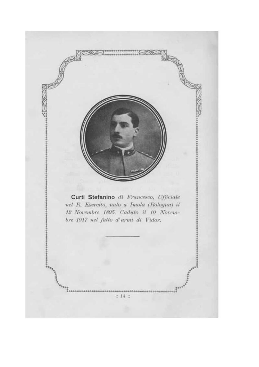 Stefanino Curti, caduto sul Piave il 10 novembre 1917, medaglia d'oro
