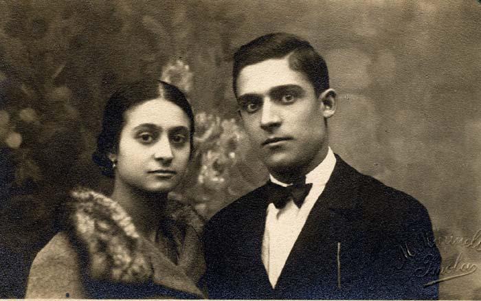 Alfredo Zanarini con Maria Brini