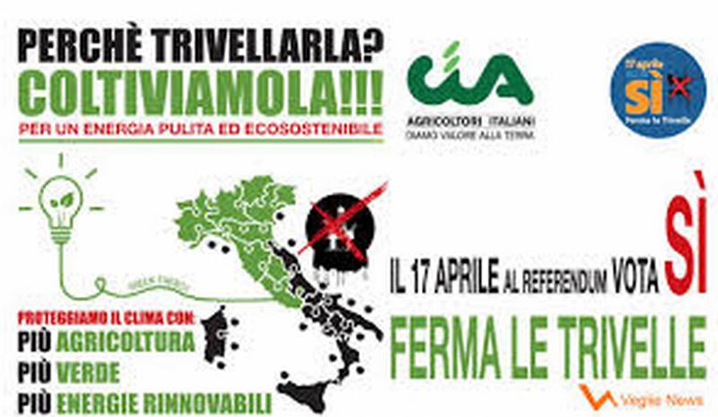 """Anche la Cia si schiera per il """"Sì"""" al referendum contro le trivelle in mare"""