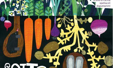 Baccanale, l'immagine di Gek Tessaro con i colori delle verdure sotto terra