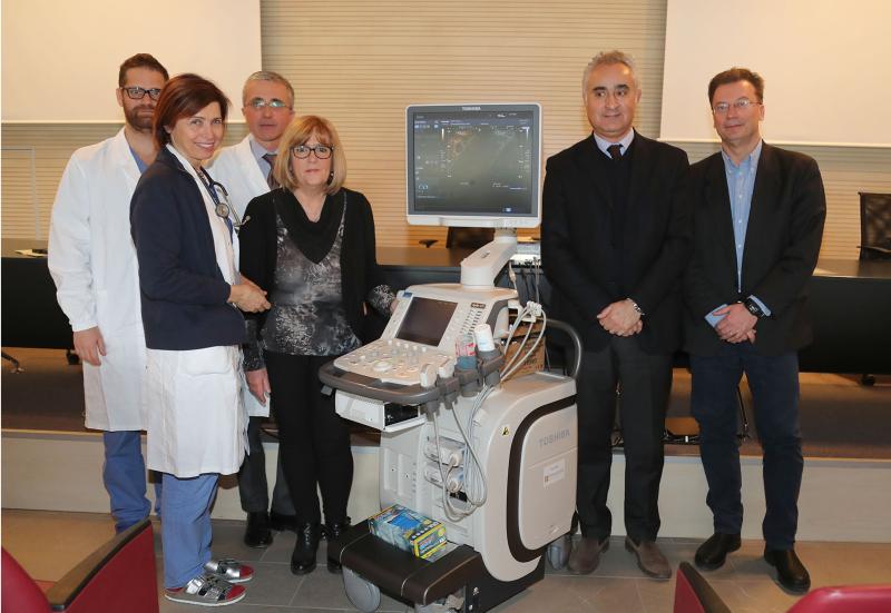Alcune attrezzature diagnostiche donate dalla Fondazione Carimola all'Ausl