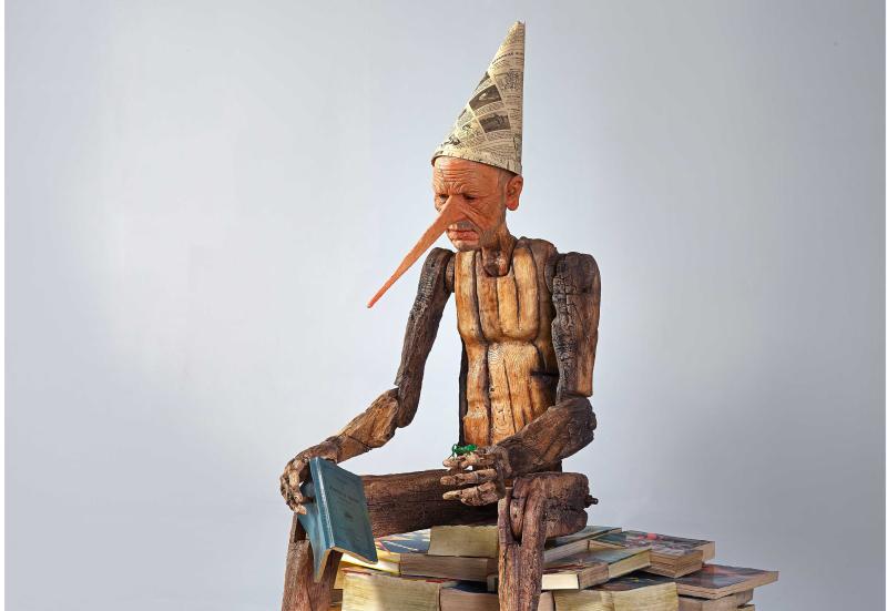 """L'opera """"Non ricordo"""" su Pinocchio in mostra grazie alla Fondazione Carimola"""
