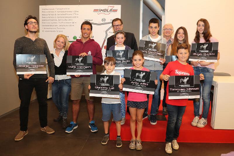 Imola, all'autodromo premiati i vincitori del concorso di disegno