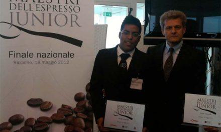 """Maestri dell'Espresso: premio a uno studente dello """"Scappi"""""""
