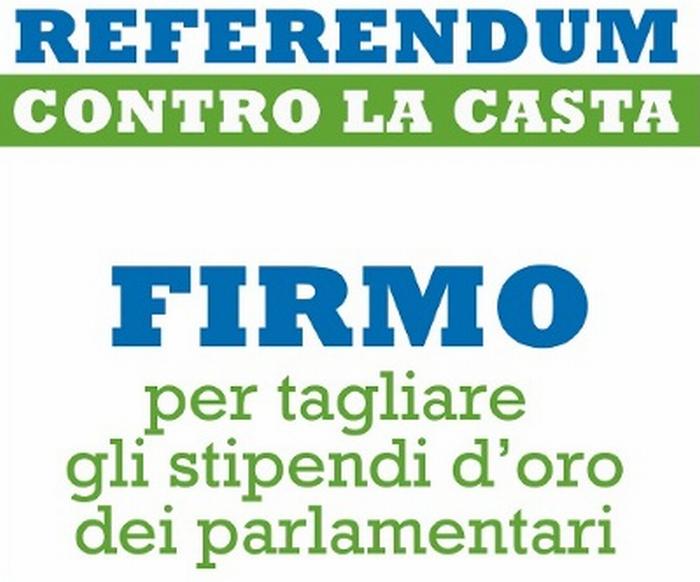 """Imola: firme per il referendum contro """"la casta"""""""