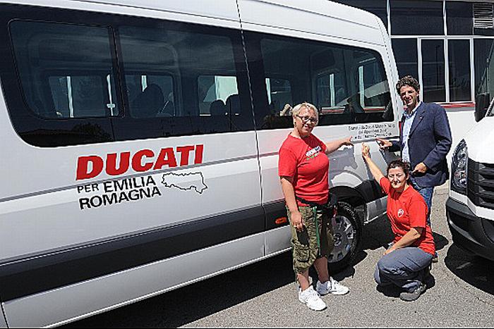 Ducati per i comuni emiliani colpiti dal terremoto