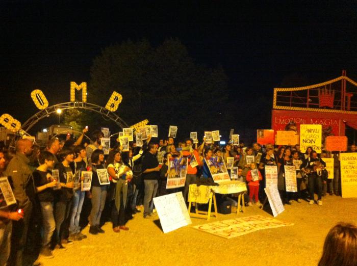 Animalisti in corteo contro il circo