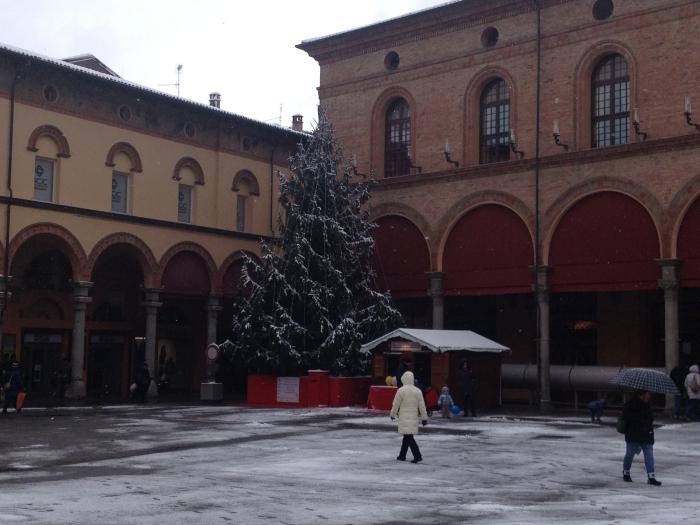 La prima neve in città
