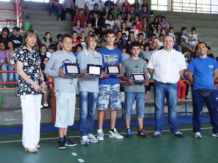 Premiati i giovani atleti della scuola media