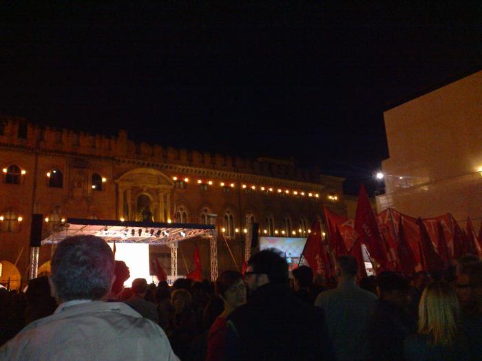 In piazza con Alexis Tsipras