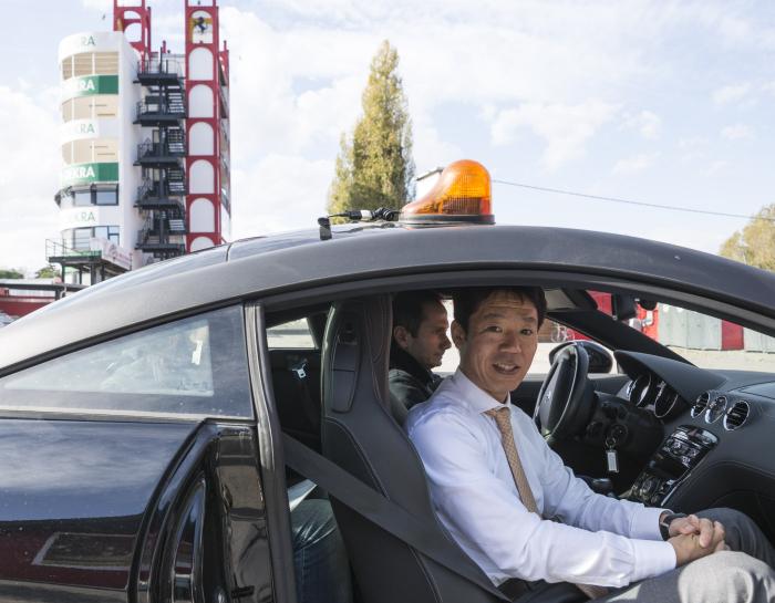 Yukio Ikeda visita l'Autodromo di Imola con Cassetta Group