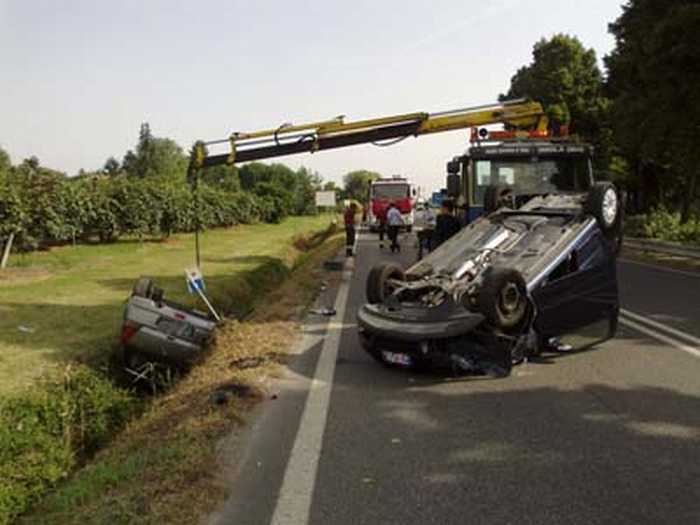 Rocambolesco incidente sulla Casolana