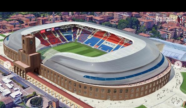 Bologna, un nuovo stadio Dall'Ara per la città