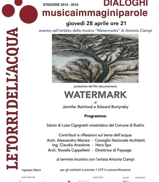 Un film sul valore dell'acqua e la relazione con l'Uomo il 28 aprile a Budrio