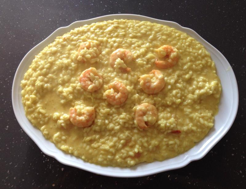 LA RICETTA DI ZIA DANIELA: Risotto curry e gamberetti