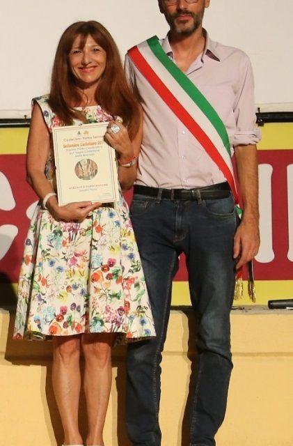 Sandra Fiumi vince il concorso per il piatto della 67° Sagra della braciola