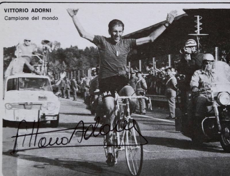 Torna il mito del ciclismo, dopo 50 anni il Grifo per Adorni