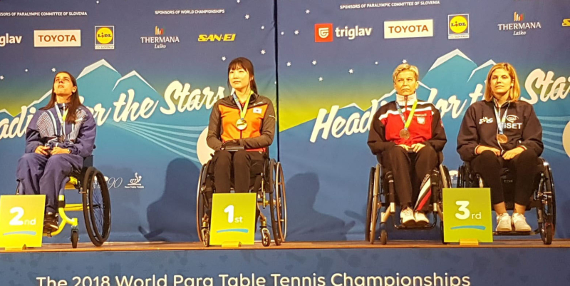 Giada Rossi bronzo ai Campionati Mondiali Paralimpici di tennis tavolo