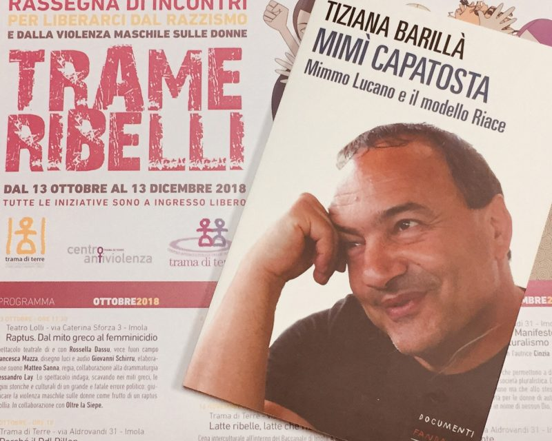 """A Trama incontro con l'autrice del libro """"Mimmo Lucano e il modello Riace"""""""