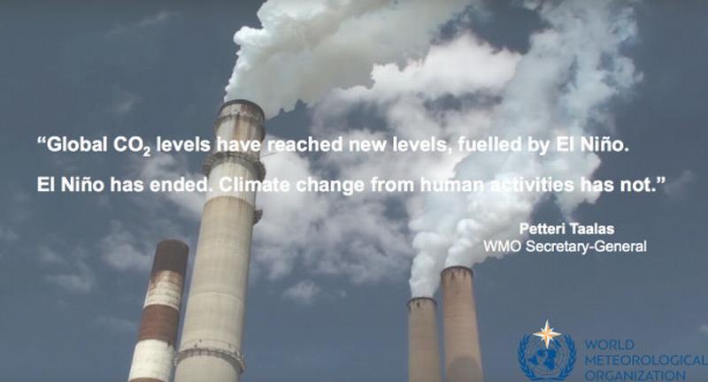CO2: superato in atmosfera il valore di 400 parti per milione