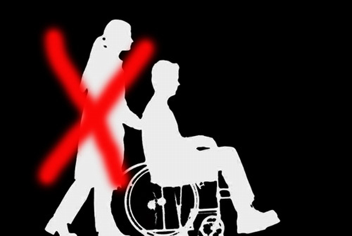 I disabili in manifestazione a Roma
