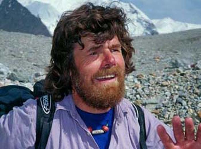 Con Reinhold Messner sulla Vena del Gesso