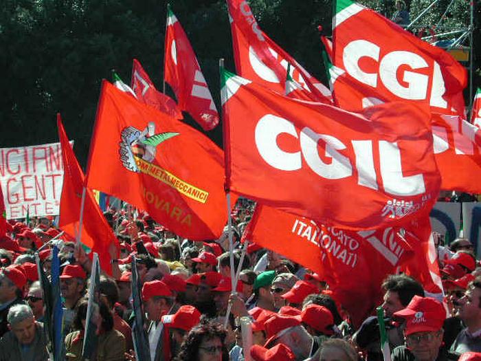 In piazza a Roma con la Cgil