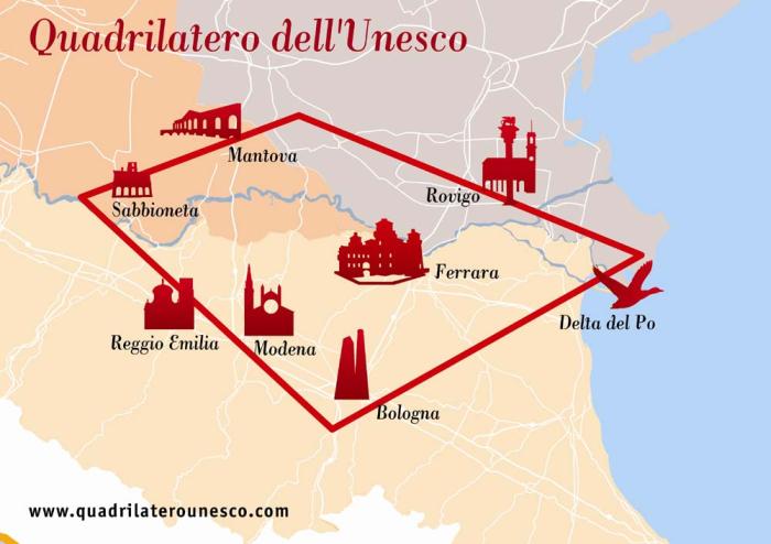 """Il """"Quadrilatero dell'Unesco"""""""