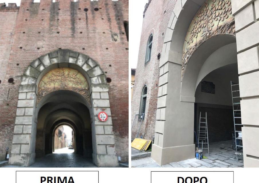 Il restauro del voltone del Cassero è stato completato
