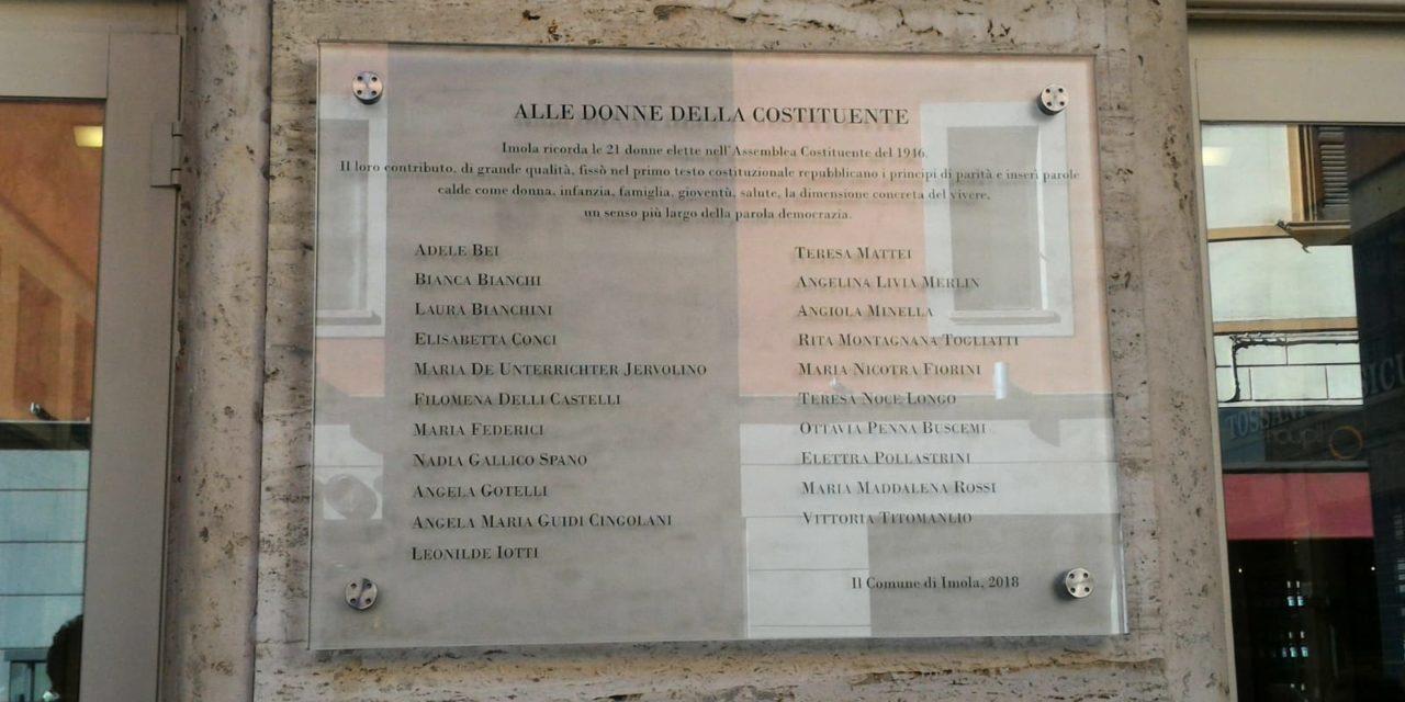 Le madri della Costituzione hanno un posto nel Centro cittadino di Imola