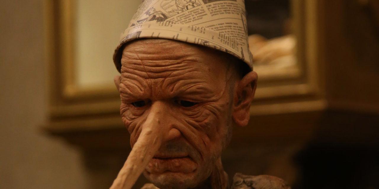 """Un Pinocchio """"invecchiato"""" in mostra e interpretato da Riondino"""