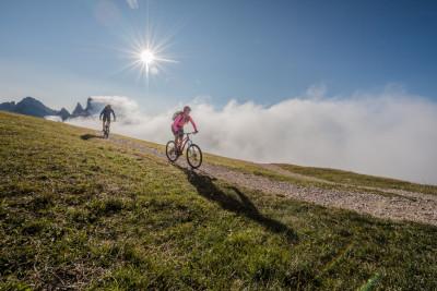 In mountain bike alla scoperta delle Dolomiti