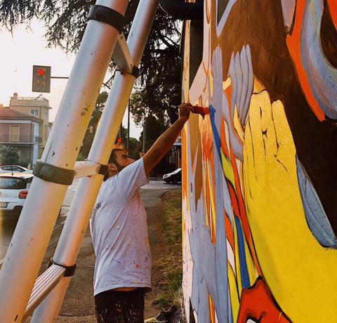 Progetto Hera, 4 cabine cabine elettriche dipinte da graffiti