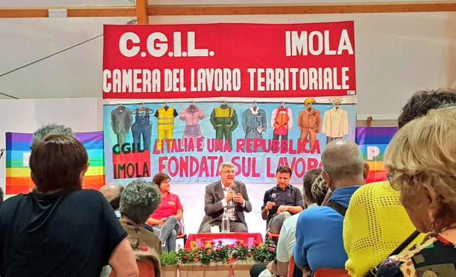 """Landini alla festa Cgil: """"Basta diseguaglianze, Conte è stato coraggioso"""""""