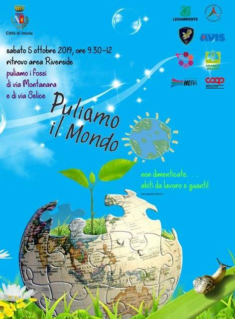 Puliamo il mondo, sabato 5 ottobre a Imola con Legambiente