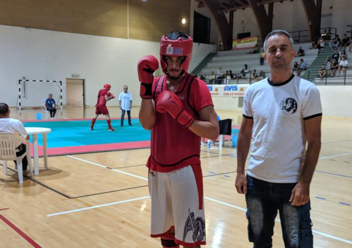 Matteo Brusa, l'atleta imolese di sanshou, fa bella figura a Zocca