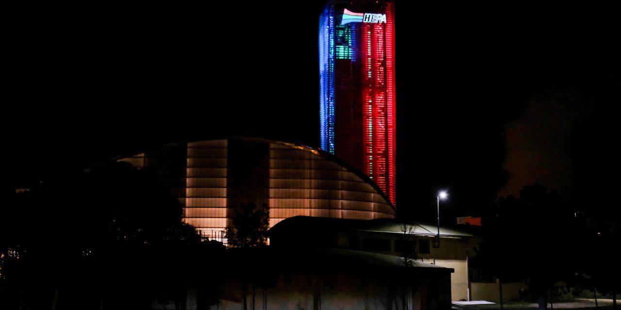 Imola: una speciale illuminazione Natalizia per la centrale Hera