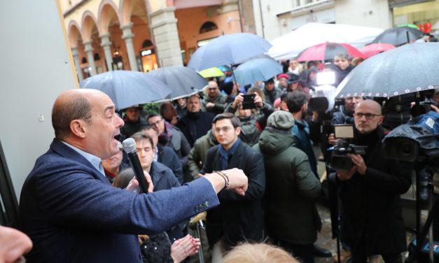 """Elezioni regionali, Zingaretti in centro attacca deciso Salvini e la candidata """"debole"""""""