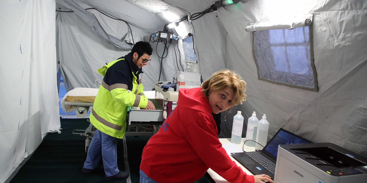 "Coronavirus, montata la tenda ""primo filtro al Pronto soccorso"""