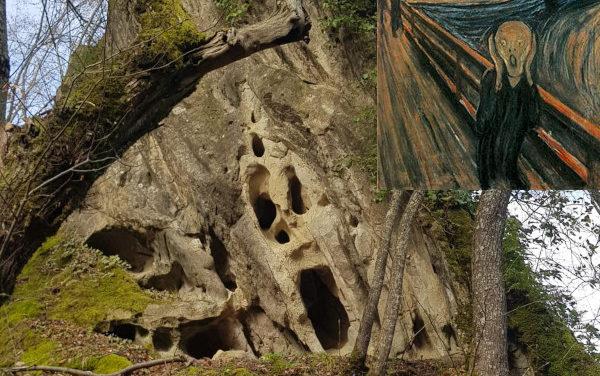 """""""L'urlo"""" di Munch scoperto in una roccia dell'Appennino"""