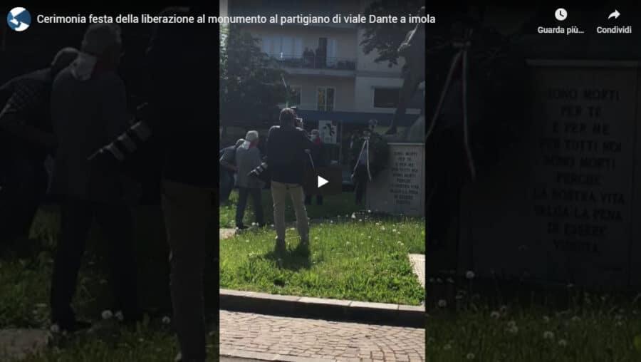 Cerimonia festa della Liberazione al monumento al partigiano di viale Dante a imola