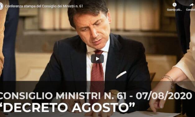 Decreto agosto: la conferenza stampa del Governo