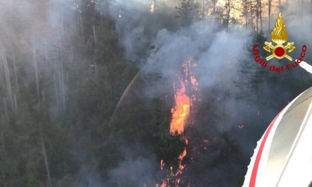 Incendio Monte Battaglia: un'altra notte di lavoro per i vigili del fuoco