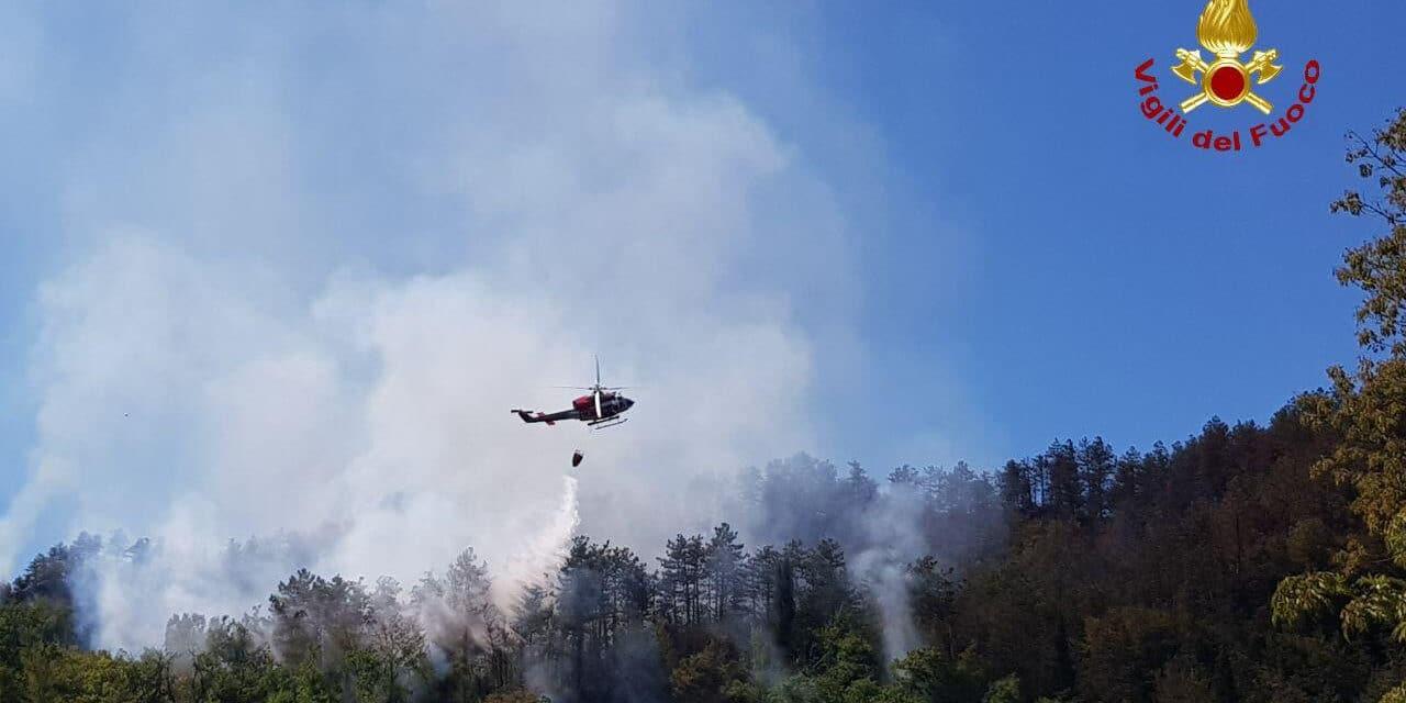 Incendio Monte Battaglia: ancora in volo elicottero e Canadair, altra notte di allerta