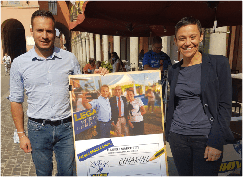 Alberto Bagnai a Imola per illustrare le posizione economiche della Lega