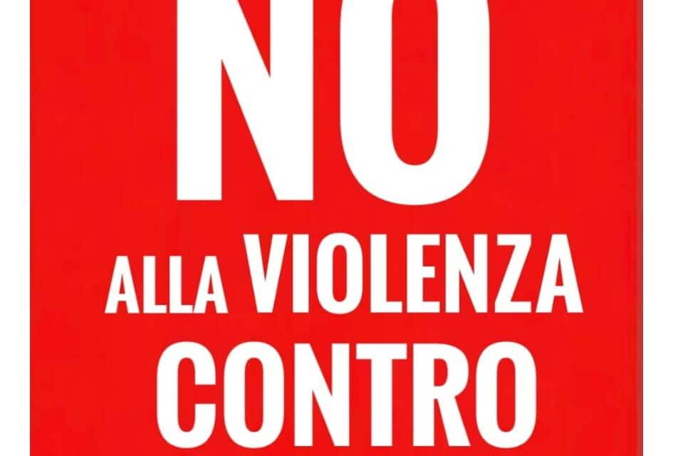 """""""Giornata contro la violenza sulle donne"""", immagine nuova vicino alla Rocca"""