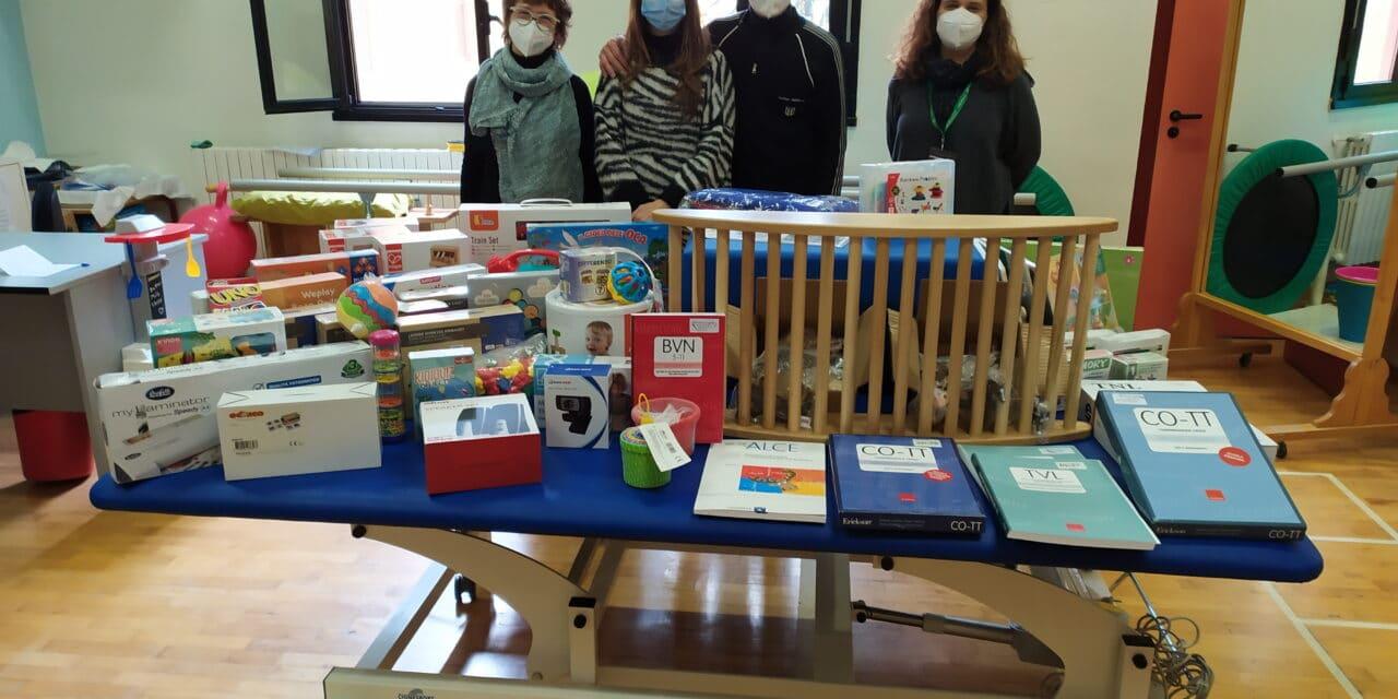 Due sposi donano il ricavato dei regali al Servizio di Neuropsichiatria Infantile