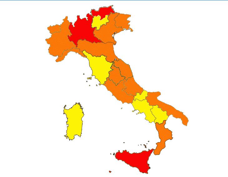 L'Emilia Romagna resta in zona arancione, in vigore il Dpcm con le nuove misure