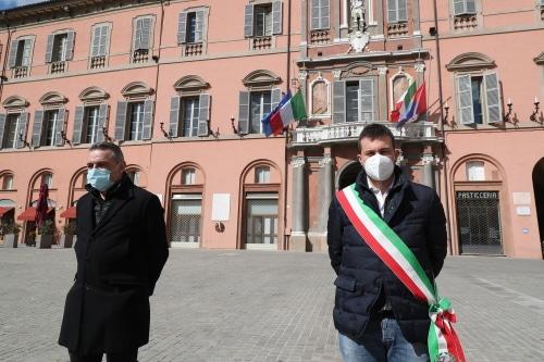 Giornata in memoria vittime del Covid celebrata a Imola e Castel San Pietro