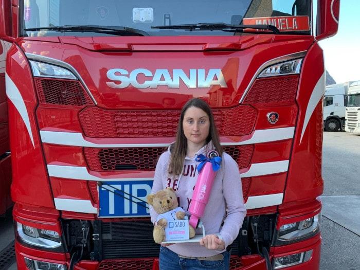 """Manuela Brunner, """"Camionista dell'anno 2021"""", vince il Sabo Rosa"""
